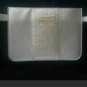 Michael Kors silver studded belt bag